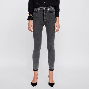 Acid wash black Highrise NWT